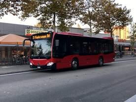 Der neue C2 K 435 von Bernmobil unterwegs auf der Linie 27 am 16.10.17 bei der Riedbachstrasse in Bethlehem.