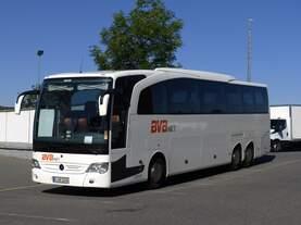 Mercedes Benz Travego von BVB (Bus Verkehr Berlin) gesehen in Weiden Oberpfalz 30.06.2019
