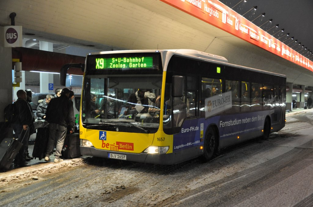 a roport berlin tegel centre ville en navette bus