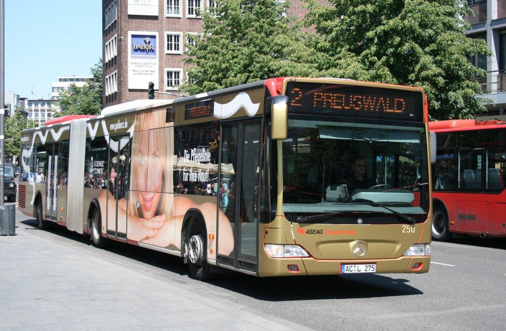 aseag 225 ac l 364 macht werbung f r crumbach aachen bushof 4 bus. Black Bedroom Furniture Sets. Home Design Ideas