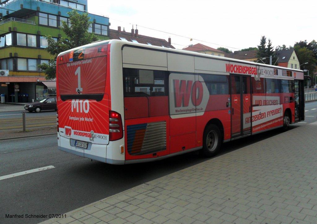 auf dem bild ist ein citaro bus von saarbahn und bus zu sehen aufgenommen habe ich das foto am. Black Bedroom Furniture Sets. Home Design Ideas