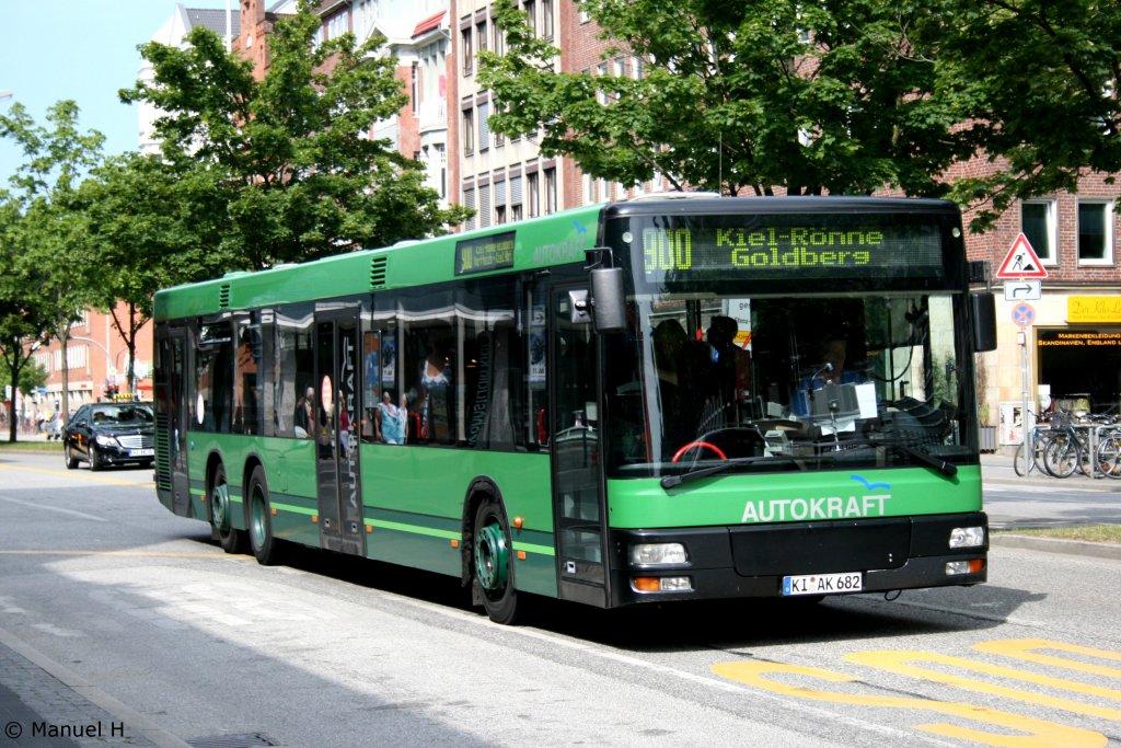 autokraft ki ak 682 kiel hbf 1 bus. Black Bedroom Furniture Sets. Home Design Ideas