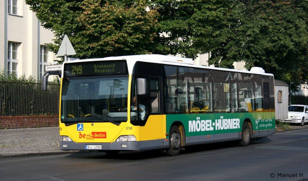 bvg 1258 b v 1258 der bus wirbt f r m bel h bner berlin zoo bahnhof 9 bus. Black Bedroom Furniture Sets. Home Design Ideas