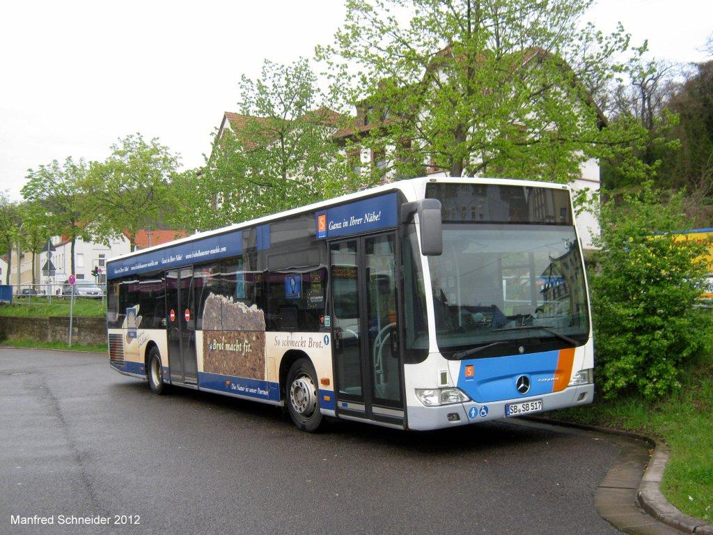 citaro bus von saarbahn und bus in saarbr cken brebach das foto habe ich im april 2012 gemacht. Black Bedroom Furniture Sets. Home Design Ideas