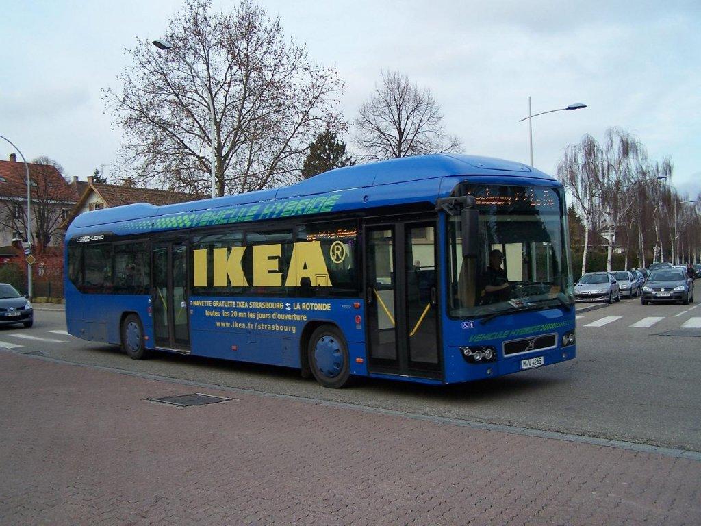der ikea schuttlebus mit dem volvo 7700 hybrid am 25 01 12 bus. Black Bedroom Furniture Sets. Home Design Ideas