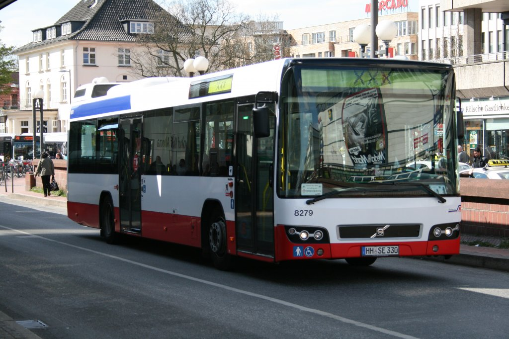 der volvo 7700 der sbg mit der nummer 8279 am 15 april 2010 in bf altona bus. Black Bedroom Furniture Sets. Home Design Ideas