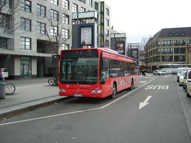 ein db rhein neckar bus in mannheim hbf am bus. Black Bedroom Furniture Sets. Home Design Ideas