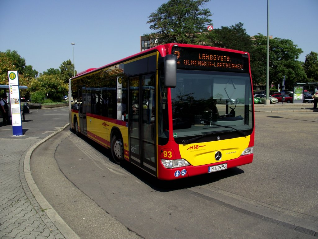 ein neuer mercedes benz citaro g in hanau hbf von der hsb am bus. Black Bedroom Furniture Sets. Home Design Ideas
