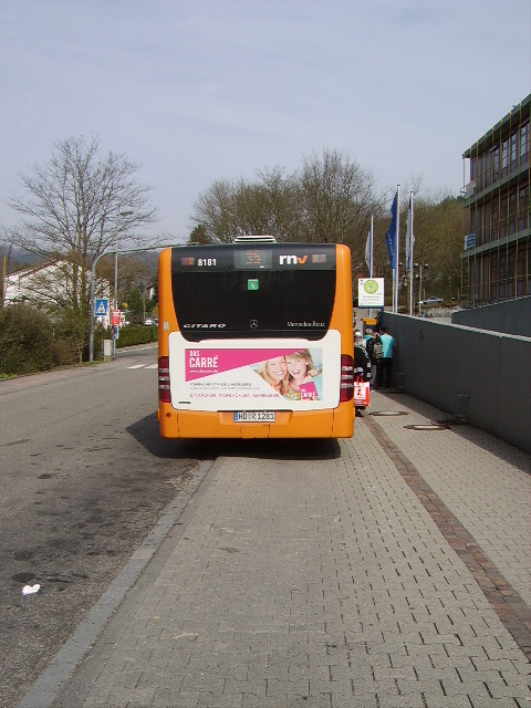 Ein RNV Mercedes Benz Citaro G in Neckargemünd am 25.03.11