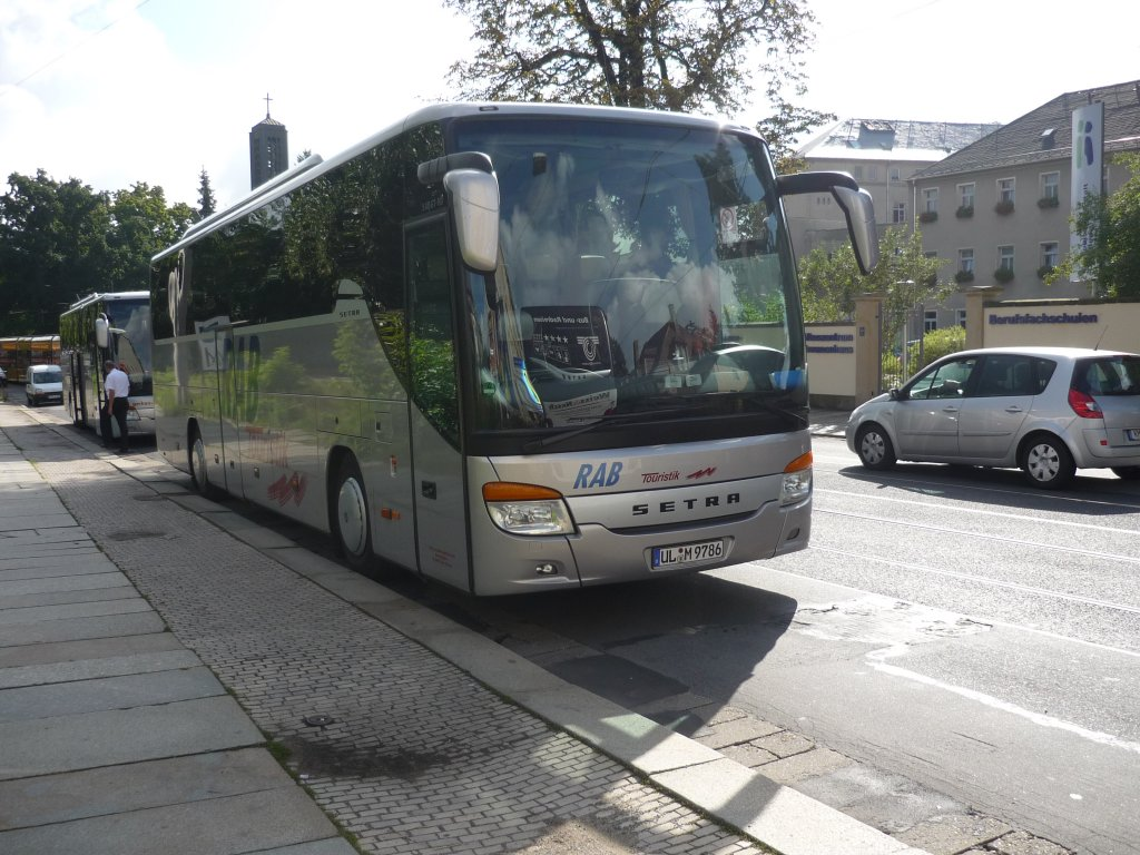 ein setra s 415 gt hd in dresden der fa rab aus ulm bus. Black Bedroom Furniture Sets. Home Design Ideas