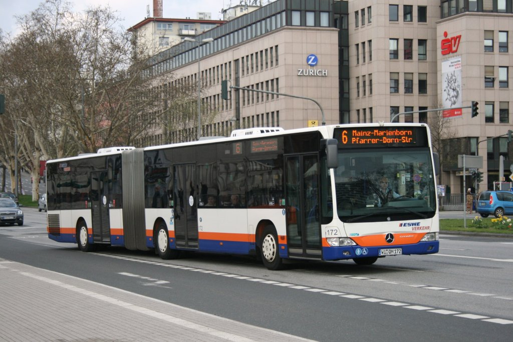 eswe verkehr 172 wi qm 172 am hbf wiesbaden 10 bus. Black Bedroom Furniture Sets. Home Design Ideas