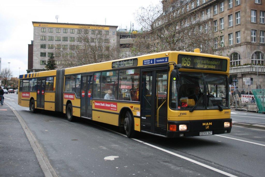 evag 3806 e yx 347 am hbf essen mit der linie 166 nach burgaltendorf burgruine am. Black Bedroom Furniture Sets. Home Design Ideas