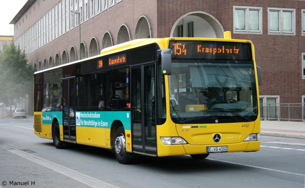 evag 4102 e vg 4102 am hbf essen 13 der bus macht werbung f r fom bus. Black Bedroom Furniture Sets. Home Design Ideas