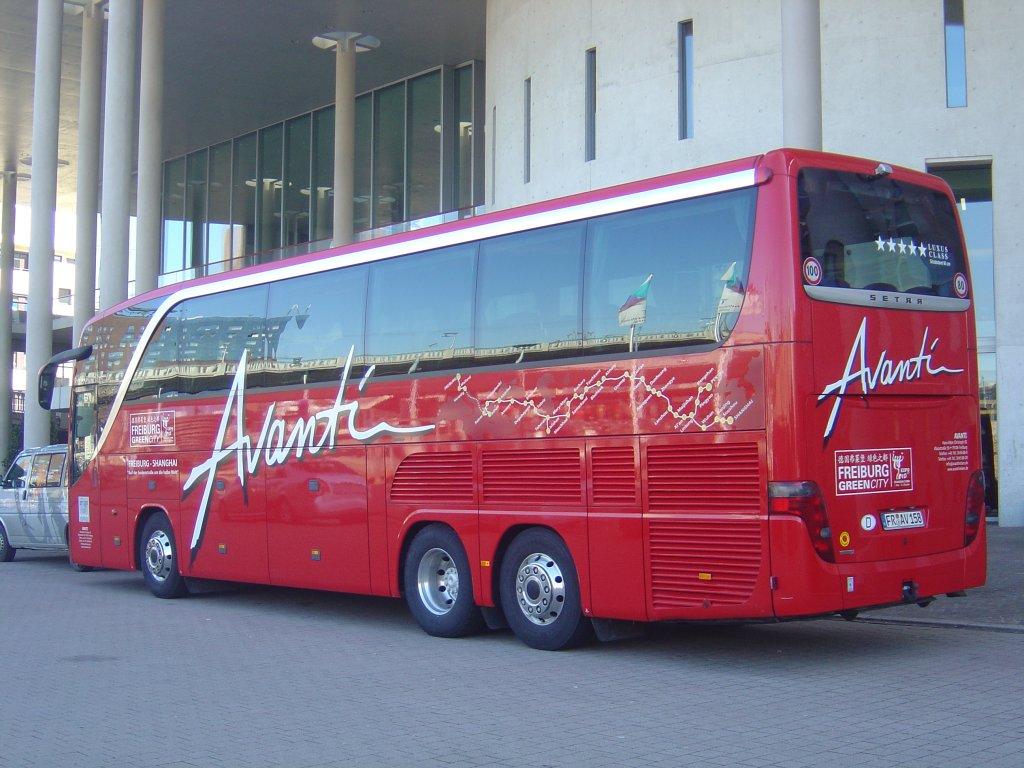 heckansicht setra s 415 hdh avanti dieser 5 sterne bus fuhr 2010 von freiburg nach shanghai. Black Bedroom Furniture Sets. Home Design Ideas