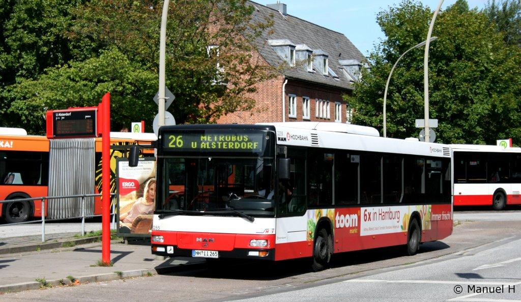 hochbahn 2355 hh ii 265 macht werbung f r toom aufgenommen in alsterdorf 21 bus. Black Bedroom Furniture Sets. Home Design Ideas