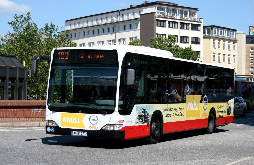 hochbahn 2707 hh hn 2707 macht werbung f r opel kr ll hamburg altona bahnhof 17 bus. Black Bedroom Furniture Sets. Home Design Ideas