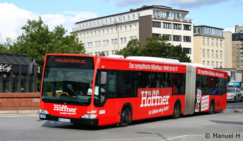 hochbahn 7837 hh hn 2867 mit werbung f r m bel h ffner bus. Black Bedroom Furniture Sets. Home Design Ideas