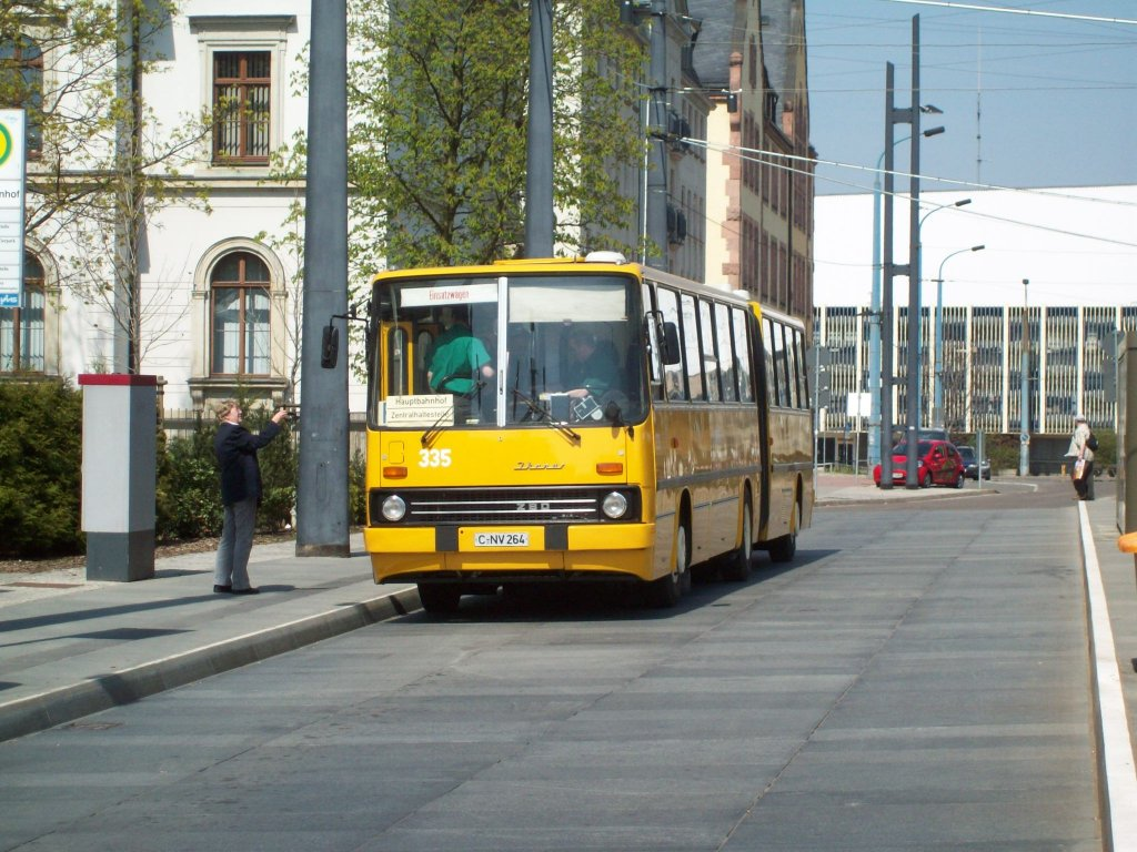 ikarus 280 am hauptbahnhof chemnitz ex cvag 335 bus. Black Bedroom Furniture Sets. Home Design Ideas