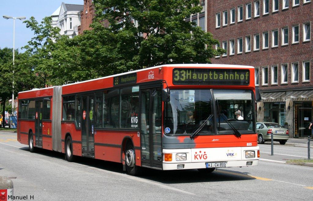 kvg 855 ki cw 855 kiel hbf 1 bus. Black Bedroom Furniture Sets. Home Design Ideas