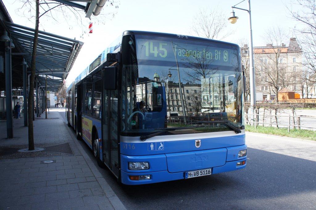 man 2 generation linie 145 mvg 5116 m nchen ostbahnhof bus. Black Bedroom Furniture Sets. Home Design Ideas