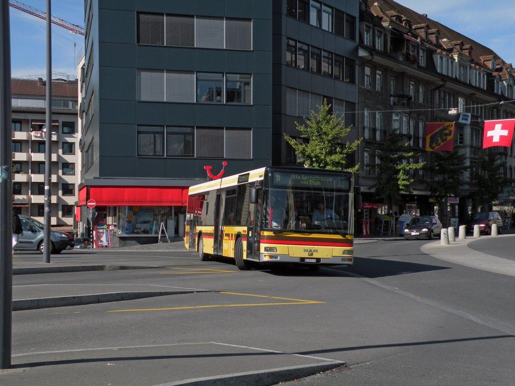 man bus mit der betriebsnummer 78 auf der linie 3 am bahnhof in thun die aufnahme stammt vom 12. Black Bedroom Furniture Sets. Home Design Ideas