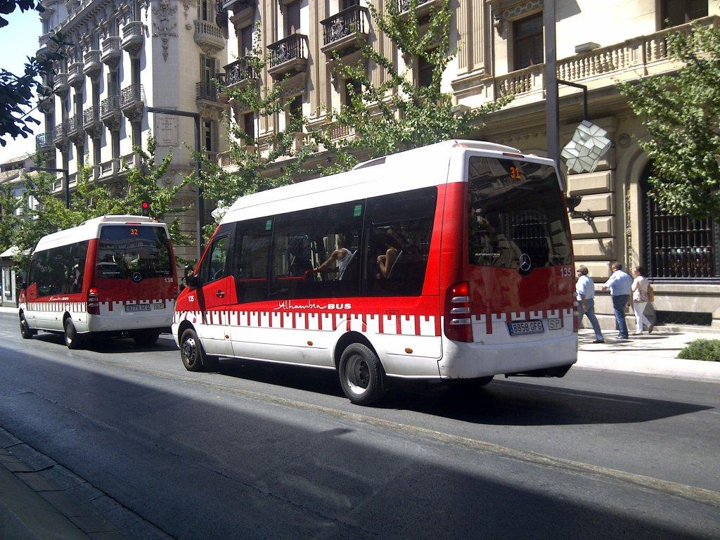 Mb sprinter im einsatz als alhambra bus in granada bus for Mercedes benz alhambra