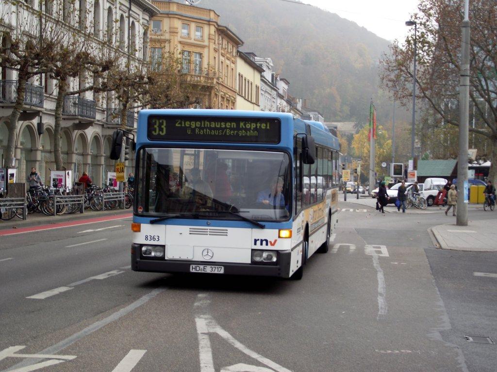mercedes benz o405 in heidelberg am auf der linie