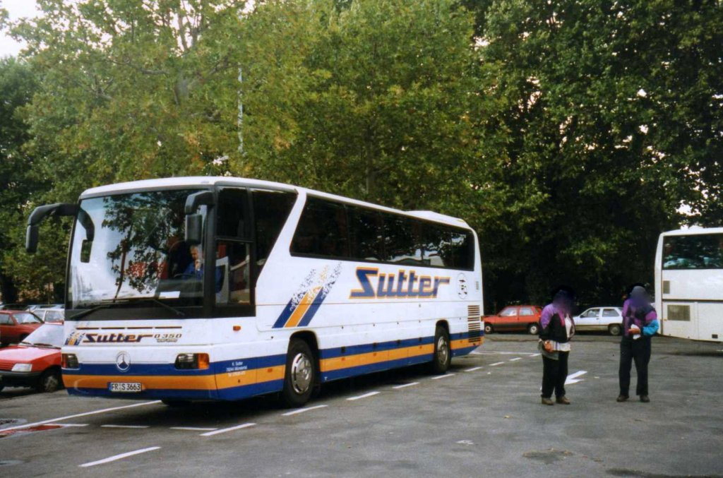 mercedes o350 rhd aufgenommen im september 1998 in freiburg bus. Black Bedroom Furniture Sets. Home Design Ideas