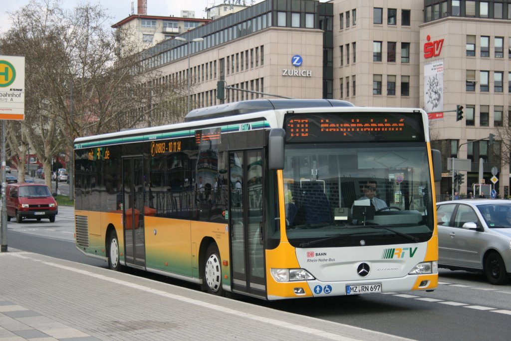 orn mz rn 697 am hbf wiesbaden mit der linie 170 10 bus. Black Bedroom Furniture Sets. Home Design Ideas