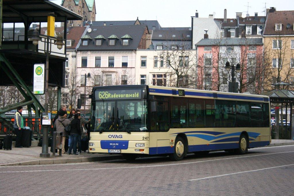 ovag 247 gm lt 247 mit der linie 626 nach radevormwald am bahnhof oberbarmen 17 bus. Black Bedroom Furniture Sets. Home Design Ideas