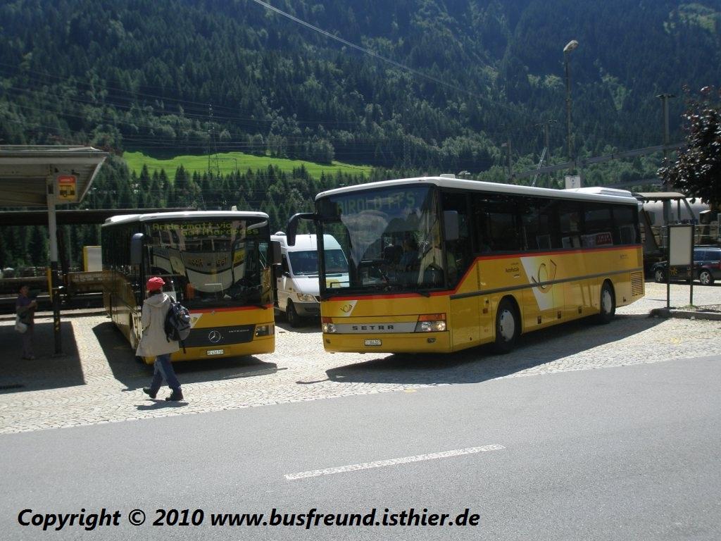 postauto links pu avg busbetrieb meiringen ein mercedes benz o550 integro auf der. Black Bedroom Furniture Sets. Home Design Ideas