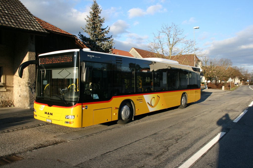 PU Wyss, Boningen, SO 108'199 (MAN Lion's City A21, 2009) am 18.1.2010 in Neuendorf.