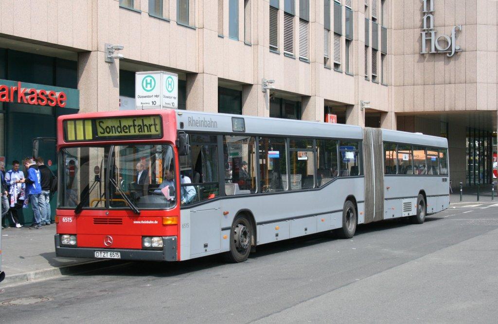 rheinbahn 6515 d zt 6515 der bus steht am 9 am hbf d sseldorf mit einer sonderfahrt. Black Bedroom Furniture Sets. Home Design Ideas