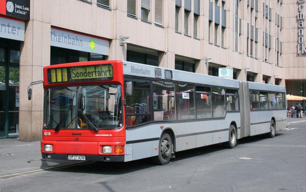rheinbahn 8218 d zt 8218 am hbf d sseldorf mit einer sonderfahrt 9 bus. Black Bedroom Furniture Sets. Home Design Ideas
