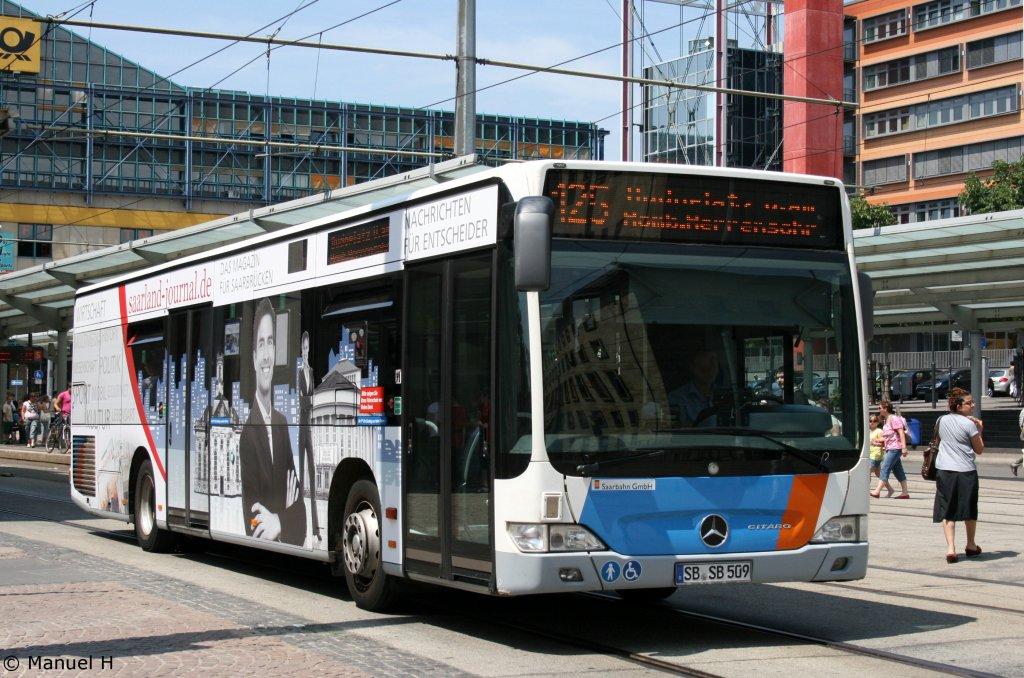 saar bus sb sl 509 mit werbung f r das saarland journal saarbr cken hbf 2 bus. Black Bedroom Furniture Sets. Home Design Ideas
