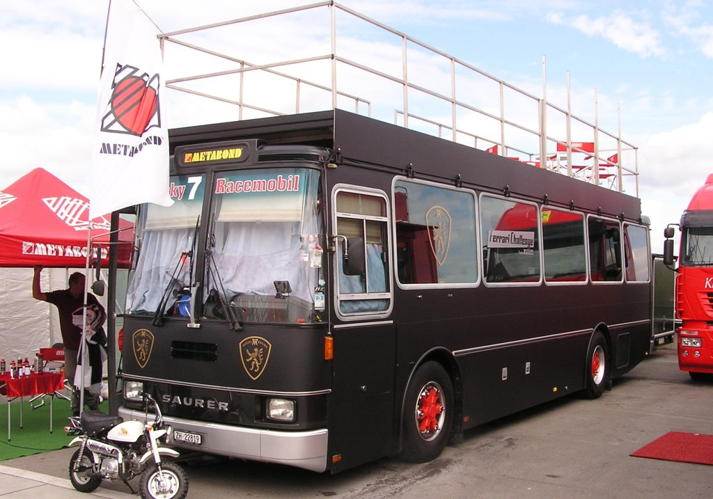 saurer race mobil bus. Black Bedroom Furniture Sets. Home Design Ideas