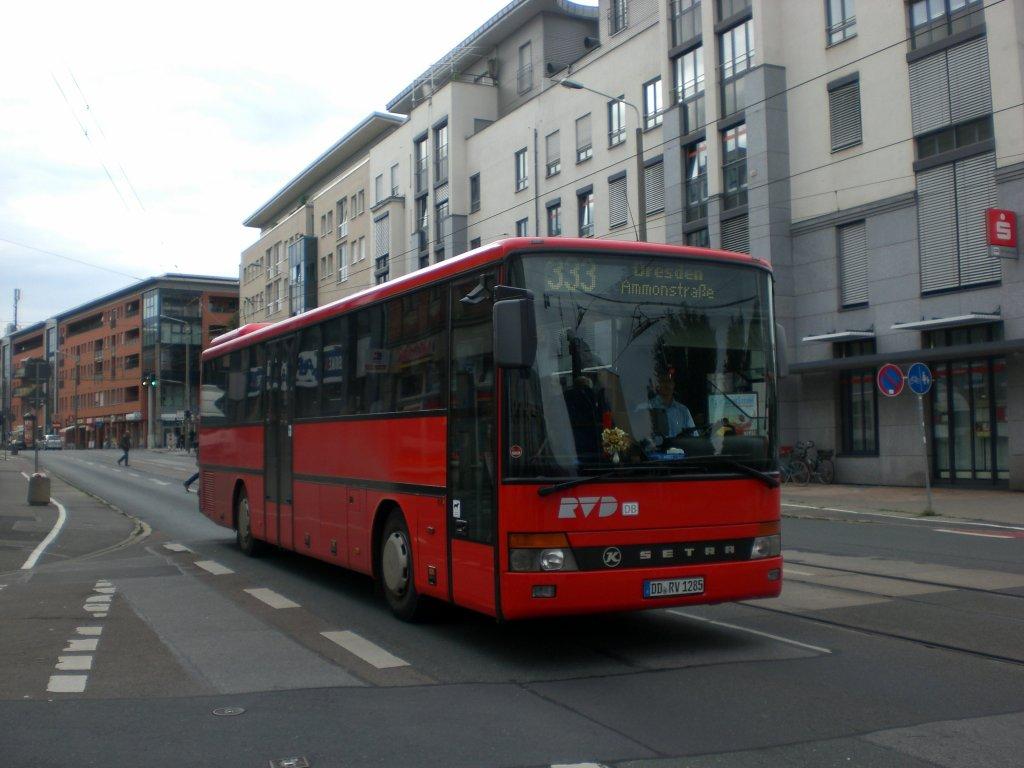 setra s 300er serie auf der linie 333 nach dresden ammonstra e an der haltestelle l btau bus. Black Bedroom Furniture Sets. Home Design Ideas