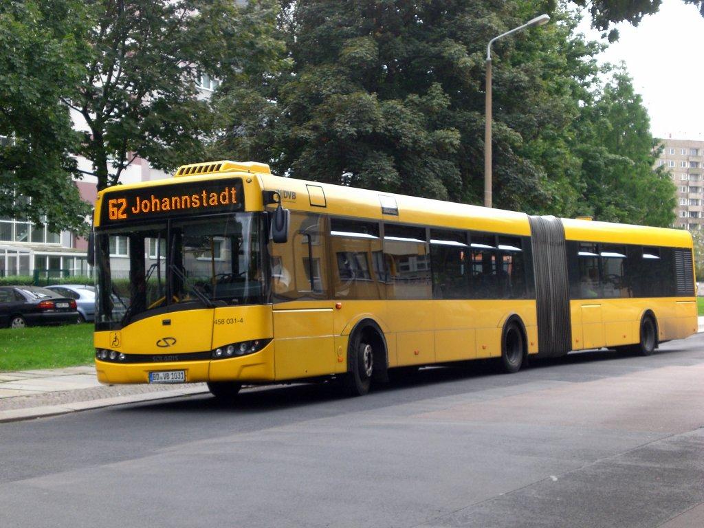 solaris urbino auf der linie 62 nach johannstadt an der haltestelle b nischplatz bus. Black Bedroom Furniture Sets. Home Design Ideas