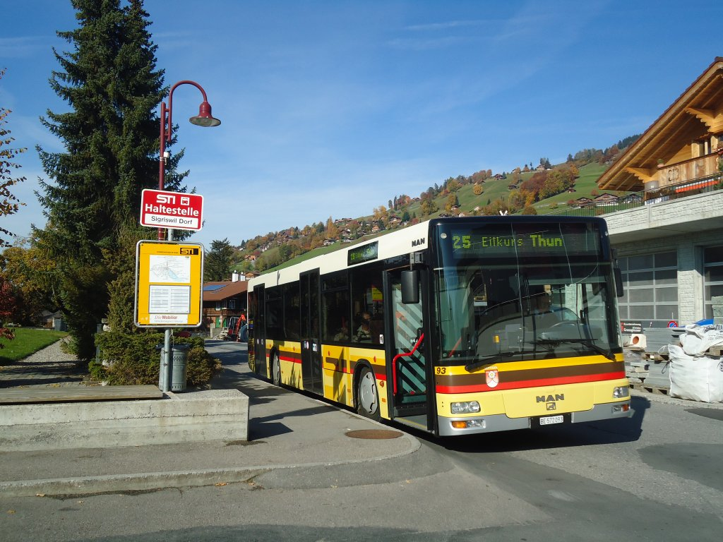 STI Thun - Nr. 93/BE 572'093 - MAN am 31. Oktober 2011 in Sigriswil, Dorf