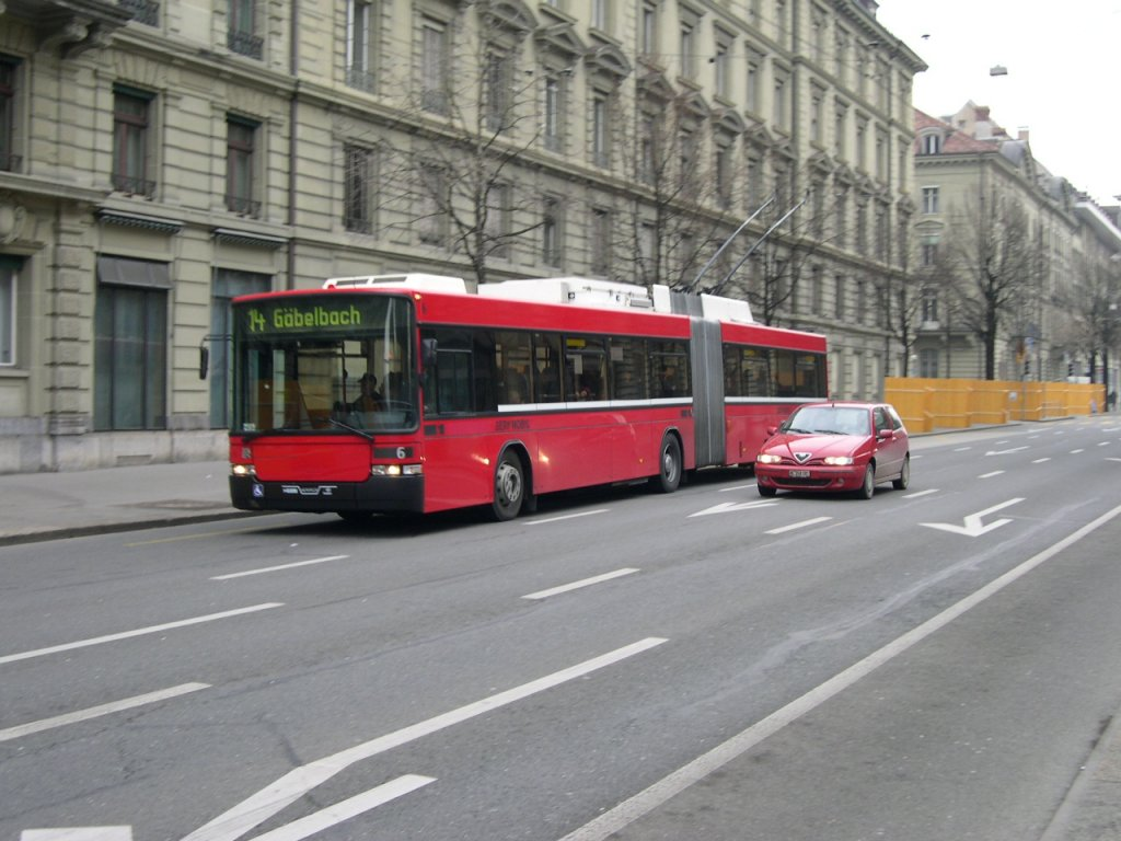 Swisstrolley Nr. 6 in der Bundesgasse