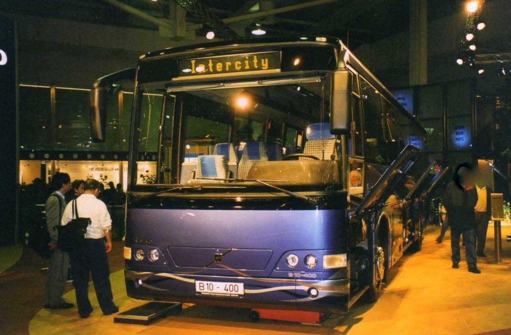 volvo b10 400 aufgenommen auf der iaa 1998 in hannover bus. Black Bedroom Furniture Sets. Home Design Ideas