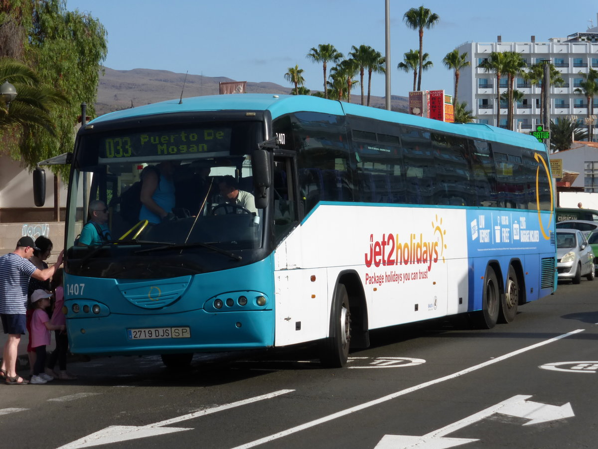 13.01.2018,SCANIA Irizar als GLOBAL 1407 in Playa del Ingles/Gran Canaria.