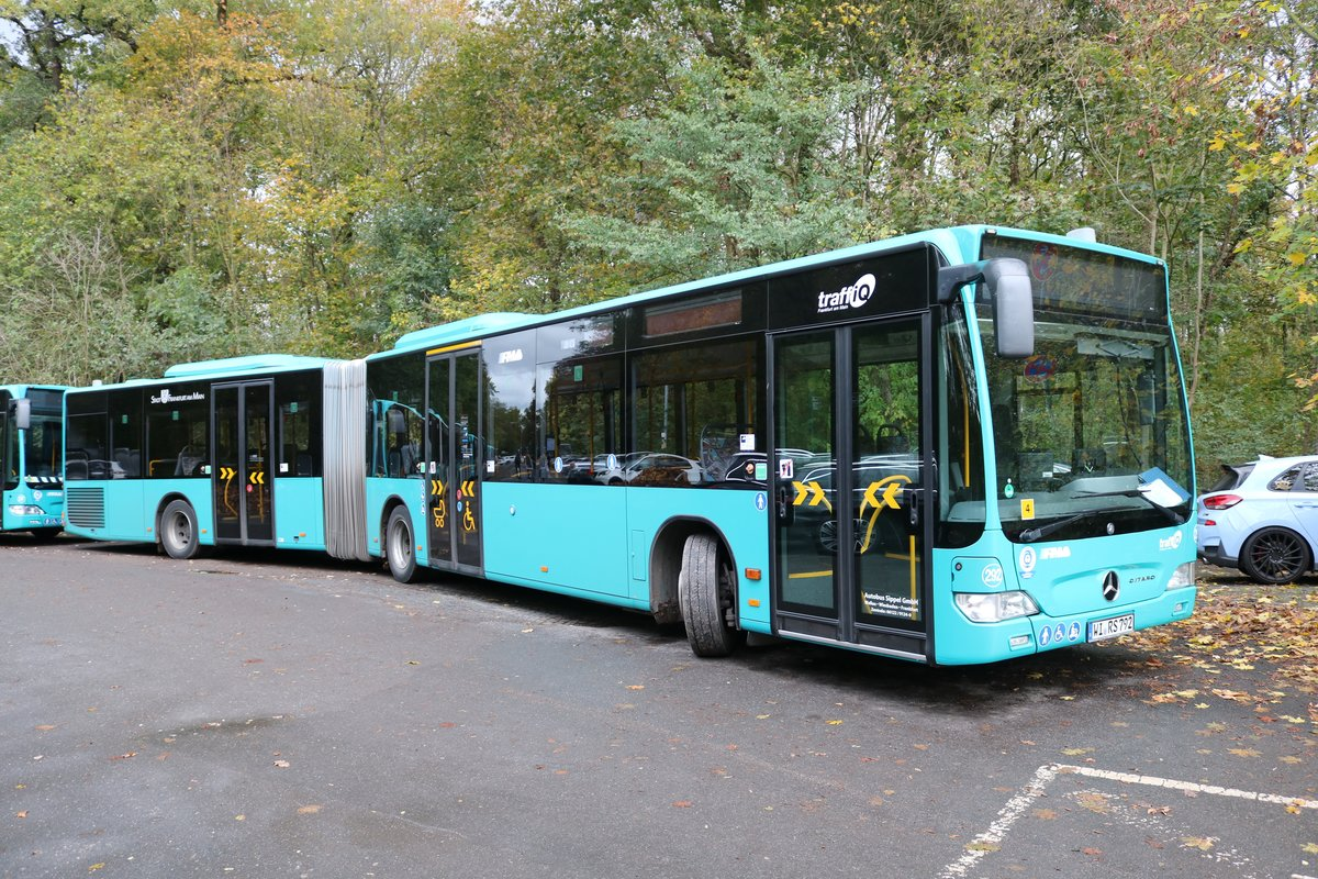Autobus Sippel Mercedes Benz Citaro 1 Facelift G am 02.11.19 in Frankfurt Oberforsthaus