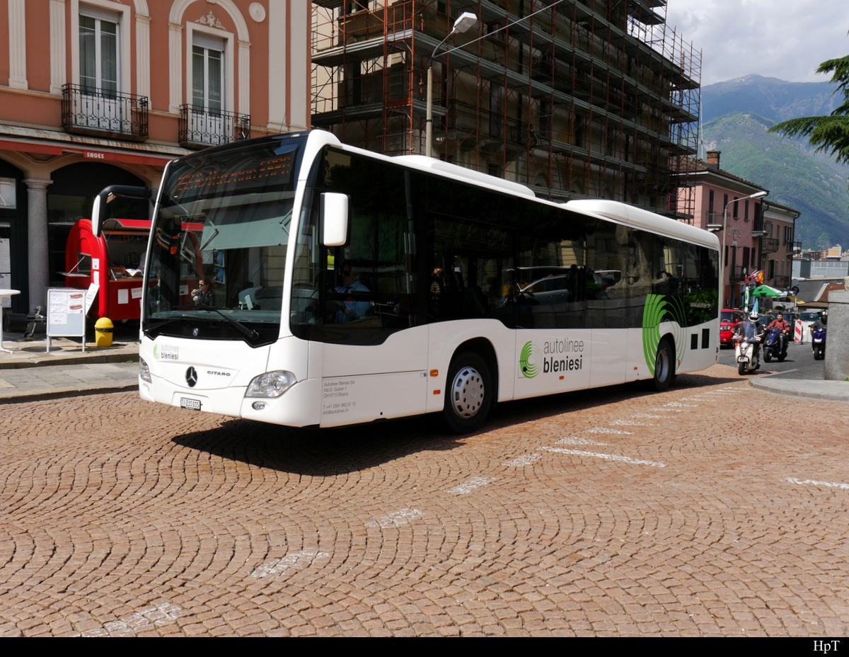 Autoliniee Bleniesi - Mercedes Citaro  TI  231015 unterwegs in Bellinzona am 16.05.2018