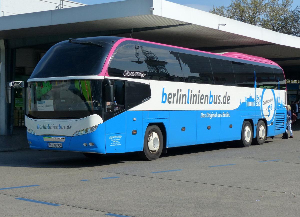 berlinlinienbus hochstetter touristik mit dem neoplan cityliner hn jh 9966 richtung heilbronn. Black Bedroom Furniture Sets. Home Design Ideas