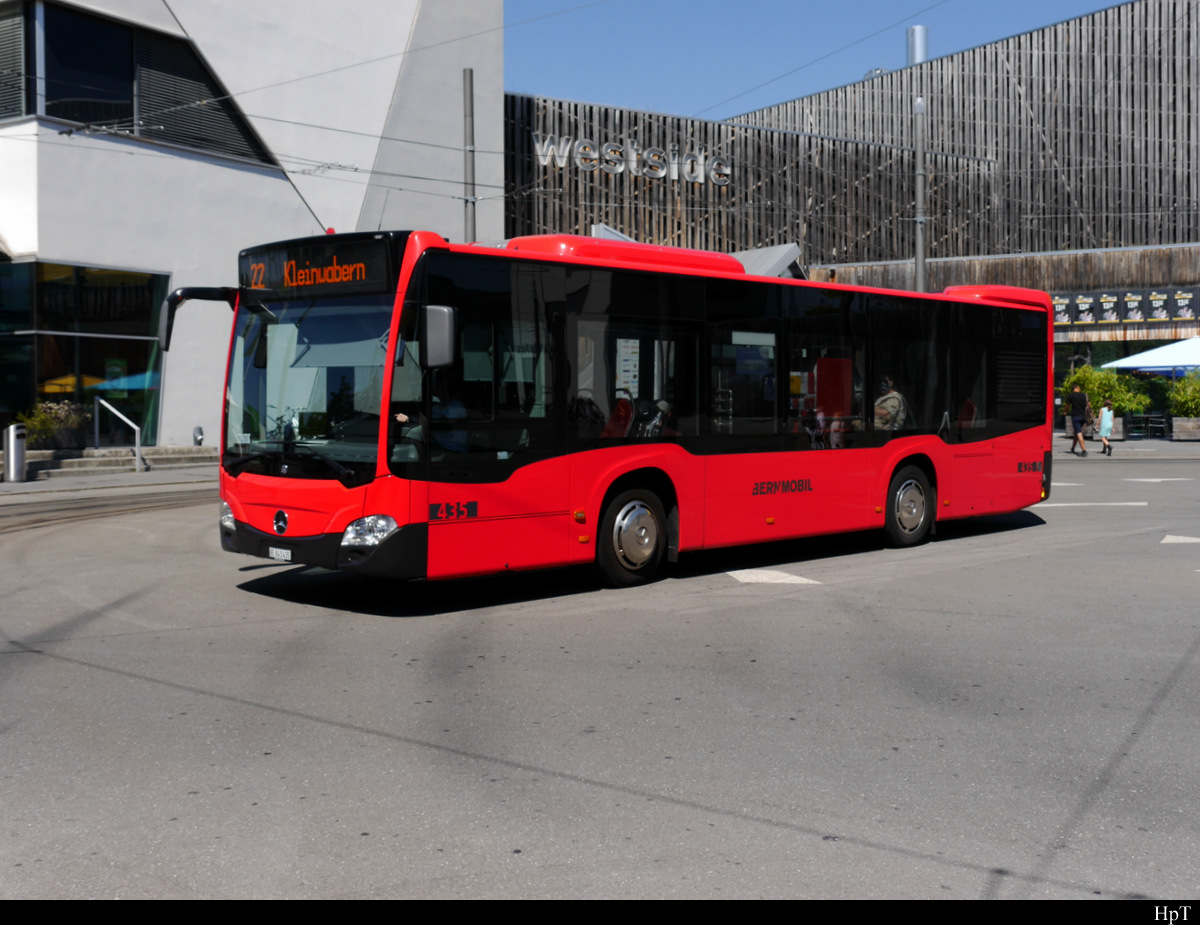 Bern Mobil - Mercedes Citaro  Nr.435  BE  843435 Nr.415 BE 716415 unterwegs in Bern Westcide am 08.08.2020