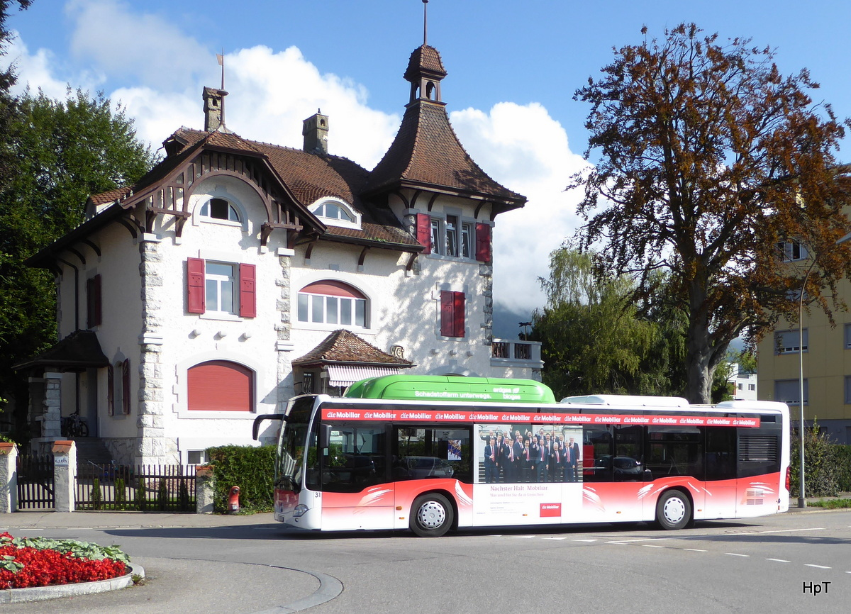 BGU - Gasbus Mercedes Citaro Nr.31  SO 130022 unterwegs in Grenchen am 03.09.2017