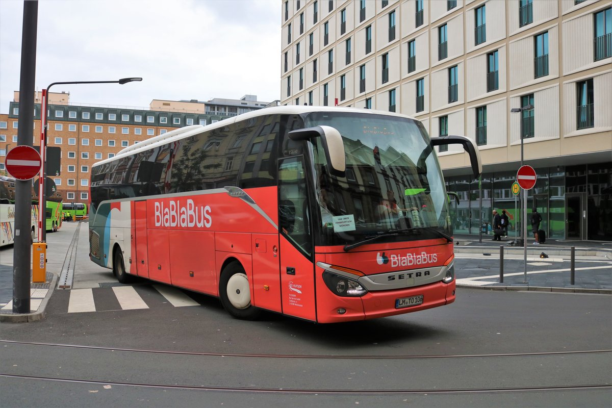 BlaBlaBus Setra am 05.10.19 in Frankfurt am Main
