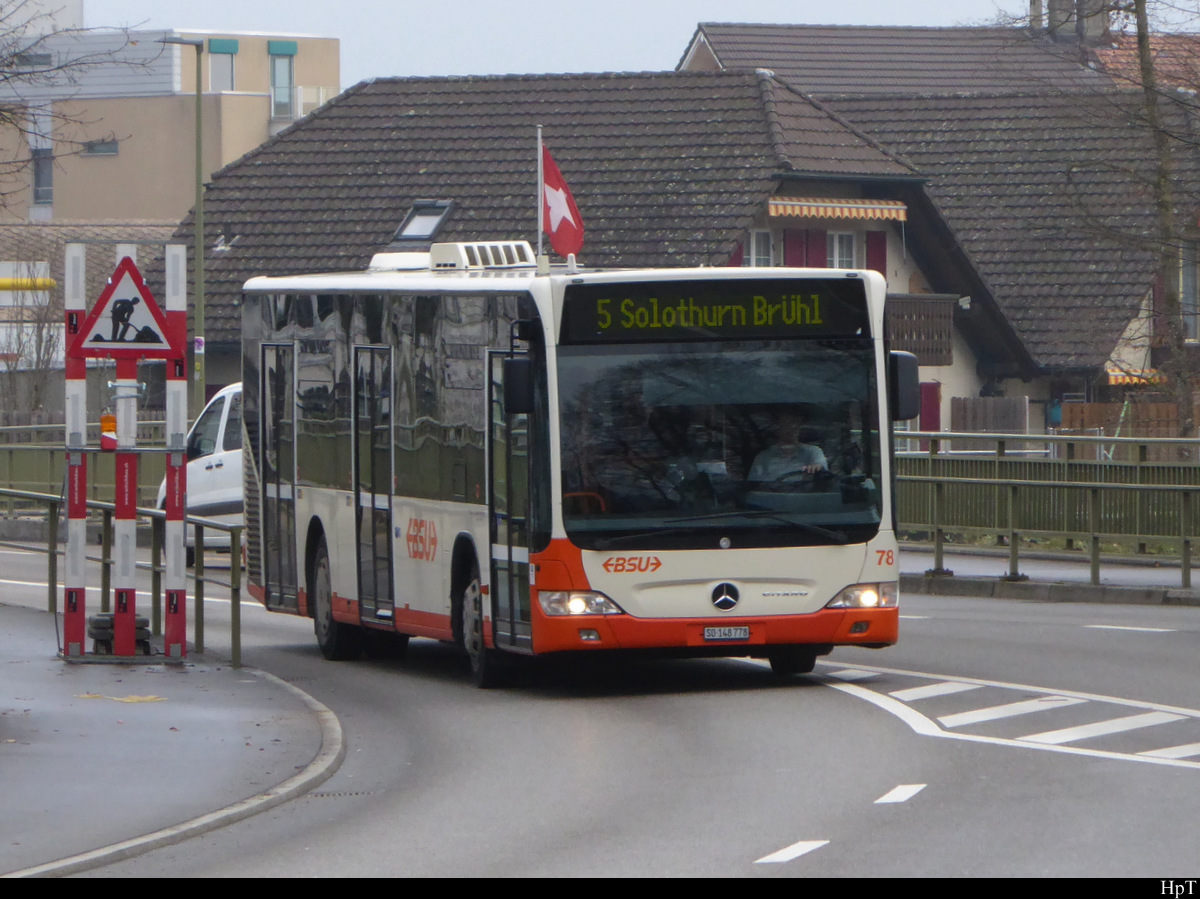 BSU - Mercedes Citaro Nr.78 SO 148778 unterwegs in Zuchwil am 18.12.2020