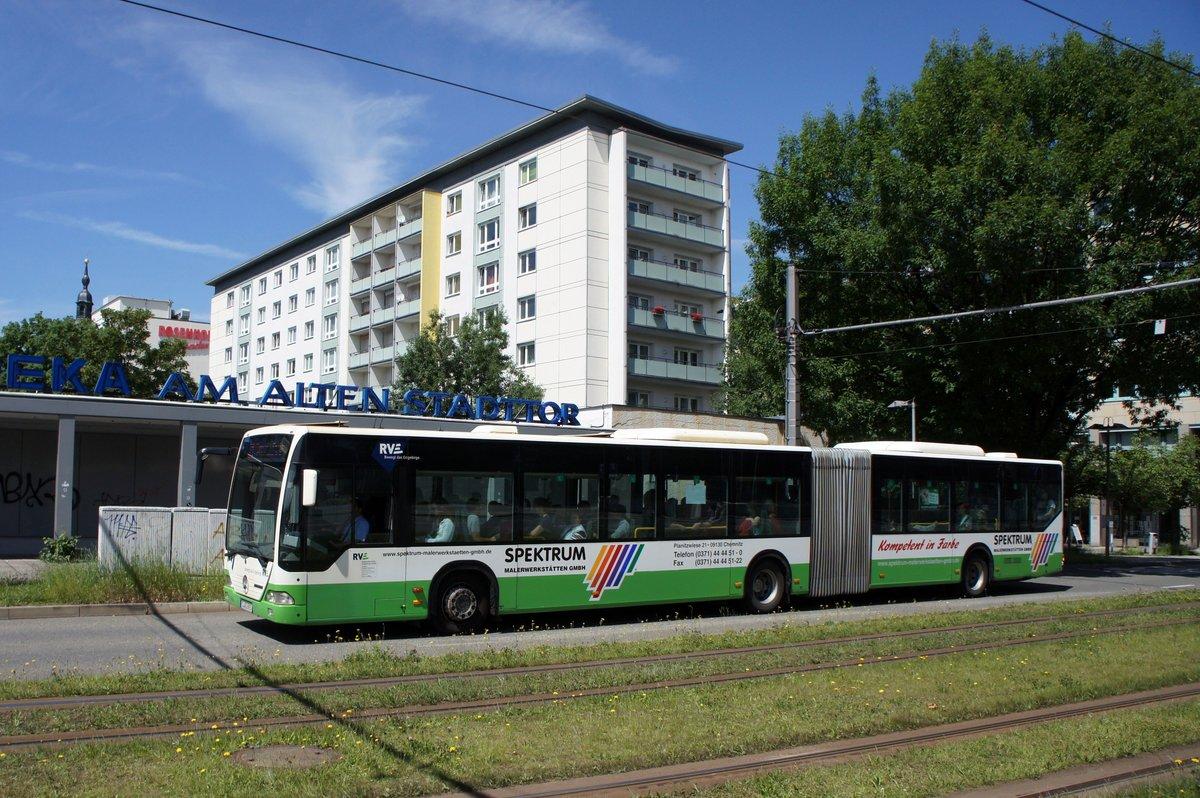 bus chemnitz mercedes benz citaro g der rve regionalverkehr erzgebirge gmbh aufgenommen im. Black Bedroom Furniture Sets. Home Design Ideas
